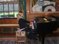 At the 1928 Steinway in Ardkinglas House