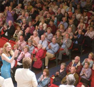 Christina applauds the RSNO after making her debut