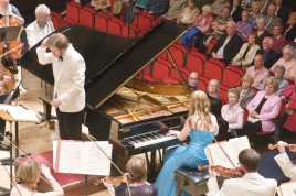 Performing the Grieg Piano Concerto with the Royal Scottish National Orchestra, May 2009